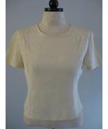 Due' Per Due' 100% Silk Cream Embroidered Blous... - $18.00