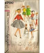 Vintage 1960's Simplicity #4700 BARBIE Doll Clo... - $10.00