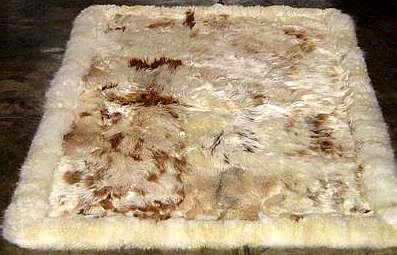 Fur rug from Peru, made of Babyalpaca fur, 300 x 200 cm/ 9'84 x 6'56 ft