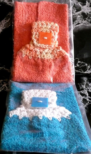 Hand Crocheted Tops  Kitchen Towels