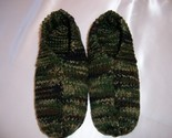 Buy men's slippers - Mens Camouflaged Medium Hand Knitted Slippers