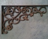 Buy Brackets - 4 Victorian Cast Iron Leaf & Vine Bracket bronze finish