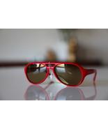 Polaroid Vintage Tortoise Sunglasses Hot Red/ G... - $22.00
