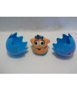 "1999 Wuv Luvs Orange Baby talking 2.5"" toy Trendmasters WITH EGG"