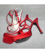 Red High Heels Skechers Sandal Dress Shoes  Size 6 - $24.00