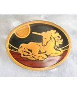 Harmony Art Moderne Solid Brass Unicorn Belt Bu... - $29.95