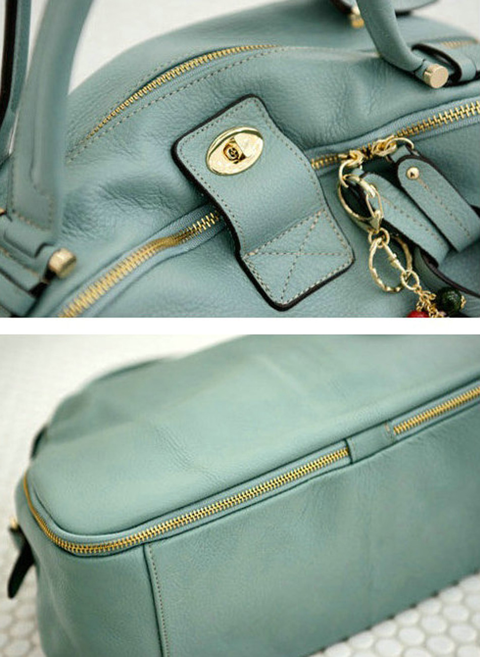 Leather_bag_korean_tote_blue_zip