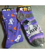2 Pairs Purple Halloween Ladies Socks size 9-11 - $5.99