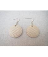Ceramic Disc Large Golf Ball Earrings Sterling ... - $16.47