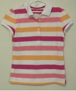 Girls Green Soda Pink White Orange Stripe Short... - $5.50