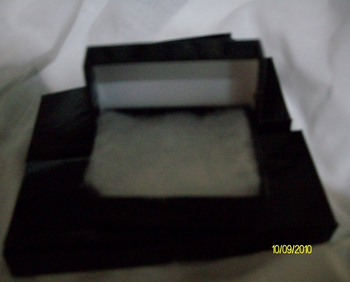 Pendant or Charm Boxes Shiny Black ( 6 )