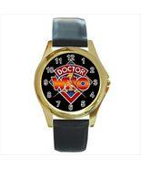 NEW* HOT DOCTOR WHO LOGO Gold Tone Unisex Round... - $18.95