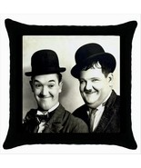 NEW* LAUREL AND HARDY Black Cushion Cover Throw... - $15.99