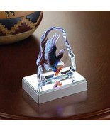 Glass Sculpture Eagle Light Statue - $10.00