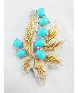 Polcini (Ledo) Rhodium Plated Faux Turquoise Ca... - $115.00