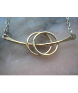 Gold Knot Necklace Delicate Jewelry - $22.00