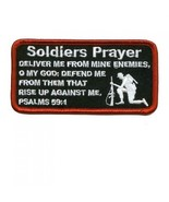 Embroidered Christian Patch Soldiers Prayer Patch - $3.22