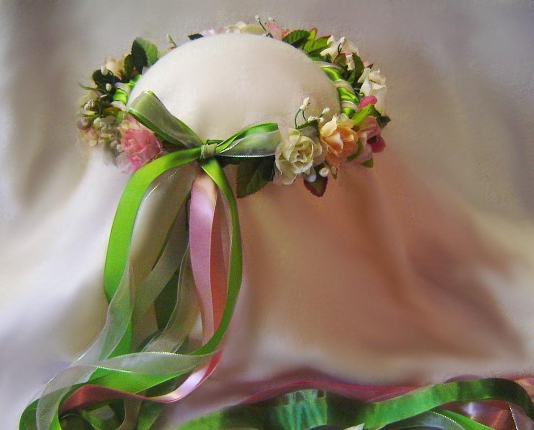Kiwi Silk Flower Head Wreath Renaissance Wedding New