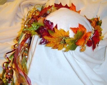Fall Leaves Head Wreath Ashley / Renaissance / Wedding