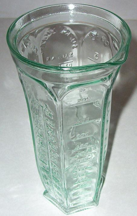 glass Italian measuring jar/jug