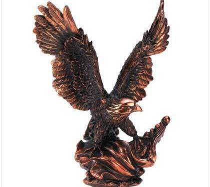 Lustrous bronze finish Eagle In Flight Statue