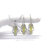 Crystal Fashion Flip Flop Charm Yellow/Silver N... - $14.00