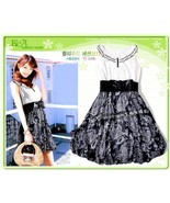 Teens's Bubble Dress Scoop Neck with Ruffle Lac... - $10.00
