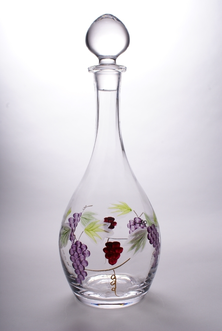 "Bacchus Crystal Wine Decanter 13"" - 6 Cup"