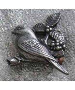 Birds & Blooms 2002 Pewtertone Bird Brooch - $11.00