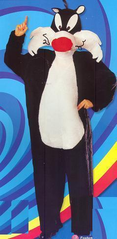 SYLVESTER COSTUME ADULT WITH OVERSIZED HEAD