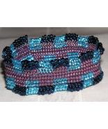 Blue Jewel Beadwoven Cuff Bracelet - $19.00