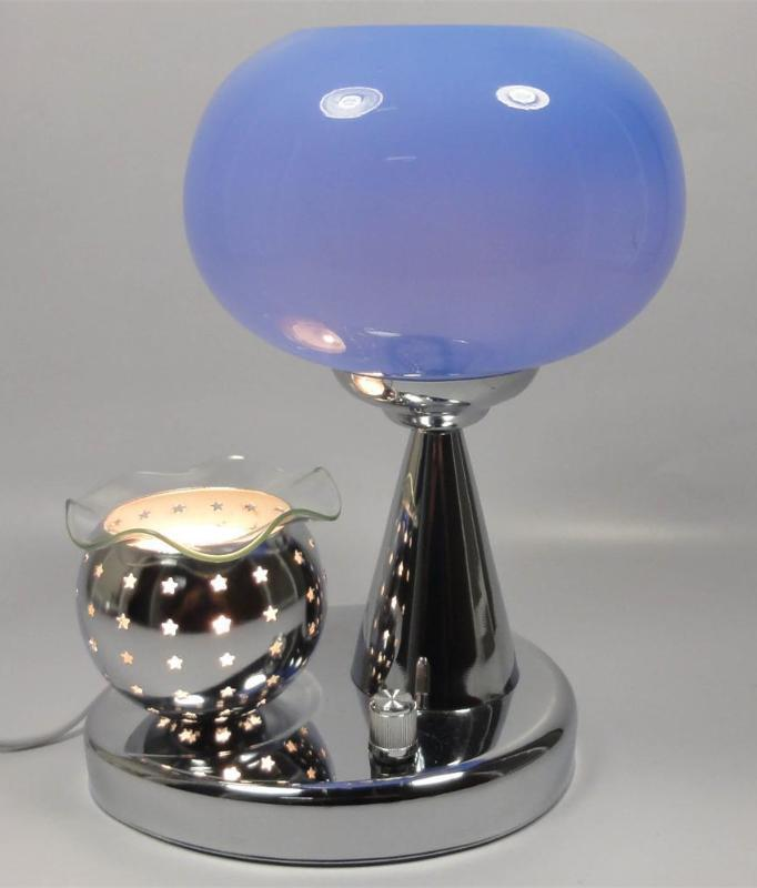 Blue  Electric Oil  or Tart Warmer and Lamp