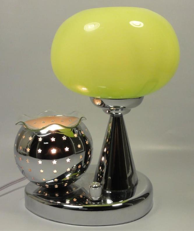 Green  Electric Oil or Tart Warmer and Lamp
