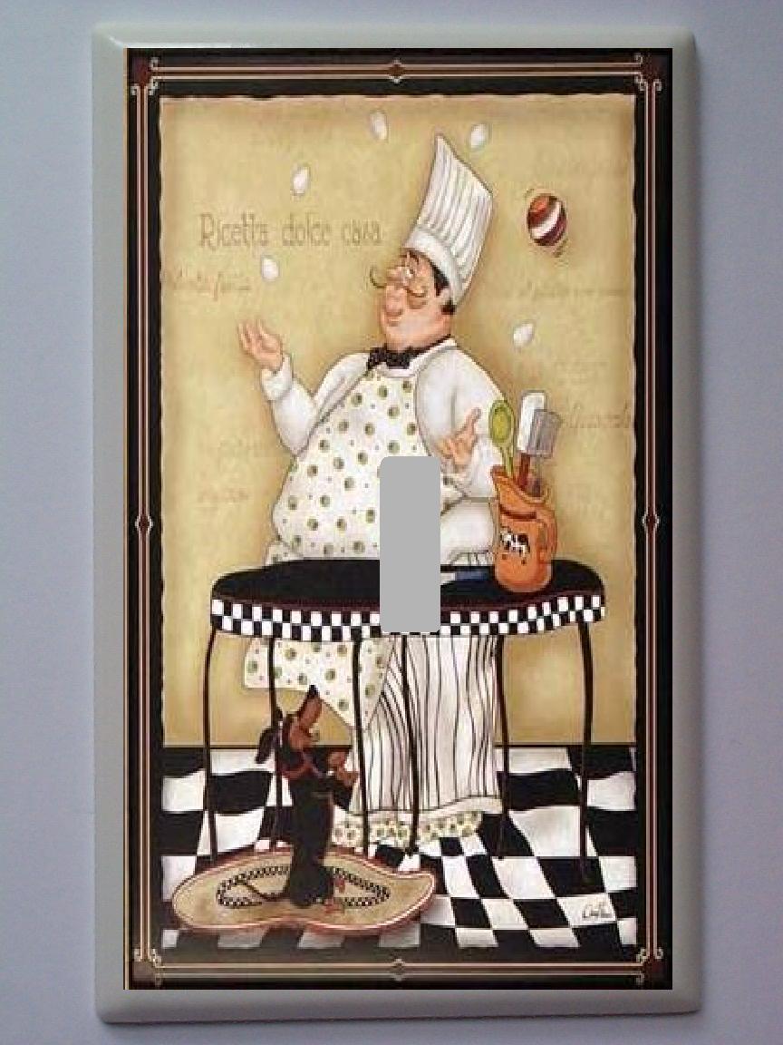 Fat chef italian bistro al dente pasta kitchen mat rug - Chef kitchen decor ...