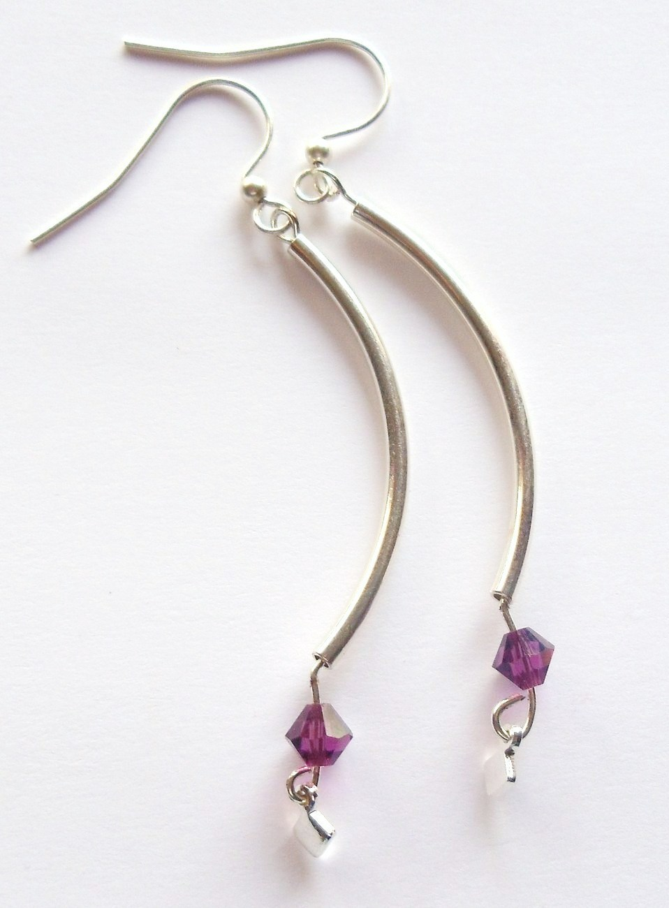 Swarovski Amethyst Earrings   Birthstone