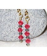 Swarovski crystal black diamond and indian pink... - $12.00