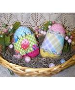 Primitive Patchwork Eggs Folk Art~~Ornies Patt... - $11.95