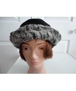 Vintage Black Wool/Faux Persian Lamb Women Hat ... - $21.53