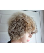 Vintage Raccoon  Fur Hat Small 21 1/2 inches  E... - $50.14
