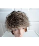 Vintage Raccoon Fur Women Hat Small 21 3/4