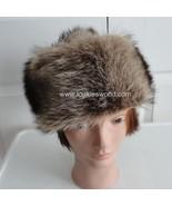 Vintage Raccoon Fur Women Hat Med 22  60's - $52.46