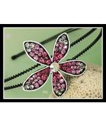 Swarovski Rhinestone Flower in Pink Headband - $12.95