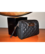 NWT $85 DKNY Donna Karan QUILTED NAPPA Black Le... - $42.63