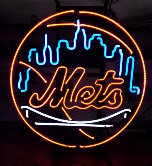 Neon Bar Lights Amazon: MLB New York NY Mets Baseball Beer Bar Neon Light Sign 18