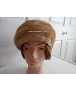 Vintage Genuine Light Brown Mink Women Hat 70's... - $42.40