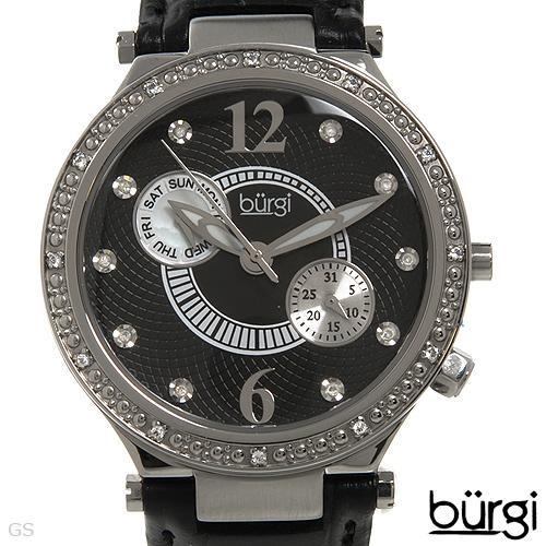 BURGI  Lady Day date Watch With Precious Stones