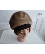 Vintage Genuine Light Brown Mink Women Hat 70's... - $65.61
