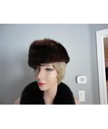 Vintage Dark Brown Fur Women Hat Med 21 1/4  L ... - $44.72