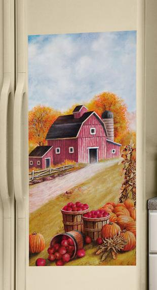 Image 3 of Country Barn/farm Fridge Refrigerator Magnet SxS