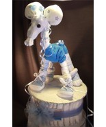 Blue GIRAFFE Diaper Cake TOPPER Boy Baby Shower... - $28.00